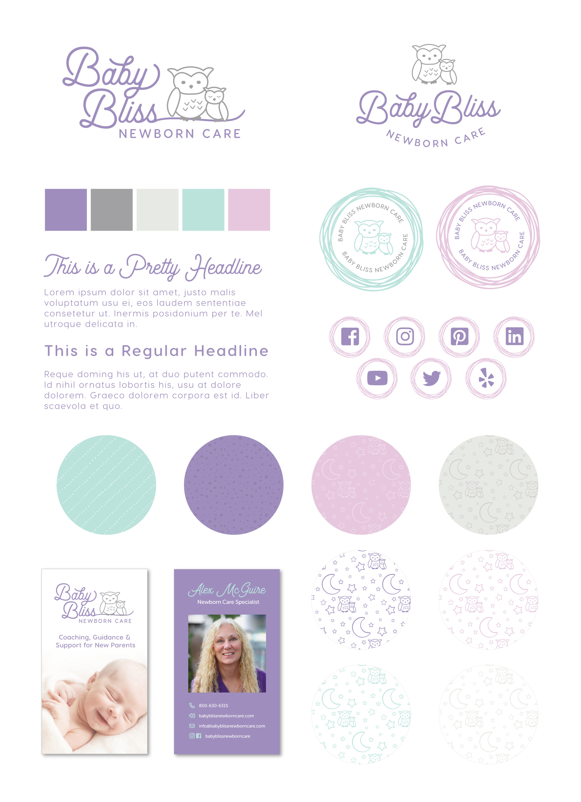postpartum doula website design, baby nurse website