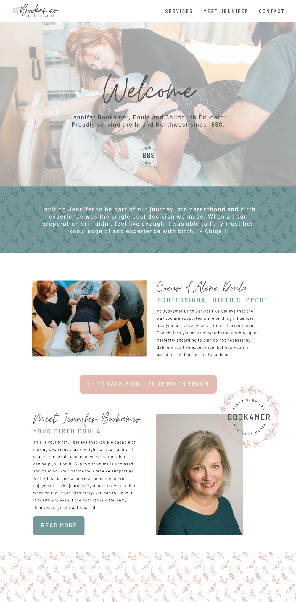 doula website design, website design for doulas